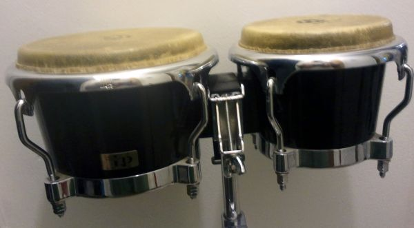 Tama Rockstar Drum Kit - Black  Various Hardware  LP Bongos w stand - $250 (College Station)