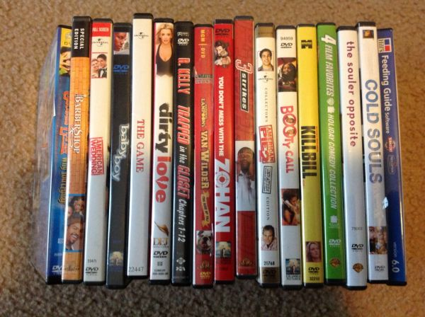 25 different DVD movies_Top Titles $3 each movie - $75 (College Station)