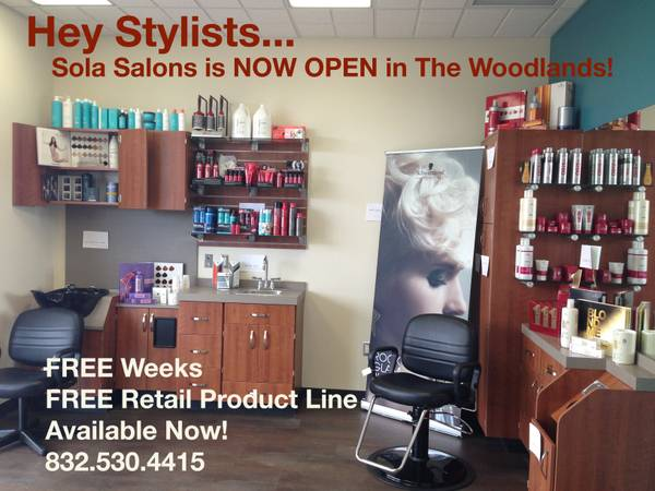 3 Studios Left Until FREE WEEKS End. Check Out Sola Salons. (The Woodlands)