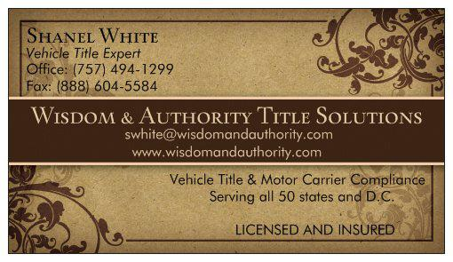 Vehicle Title and Lien Service Agency