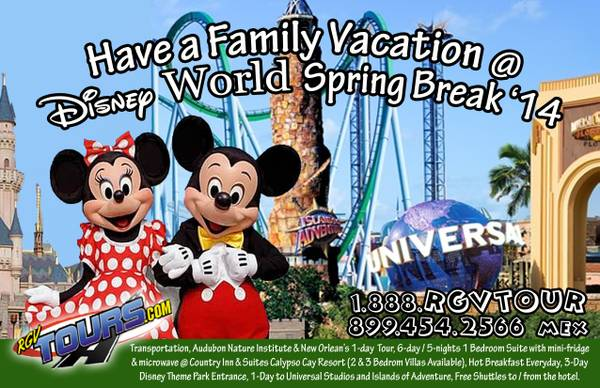 Walt Disney World Tour  Rio Grande Valley  Corpus Christi