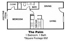 $675 1br - 652ftsup2 - Find your pot of gold (1x1 floor plan)
