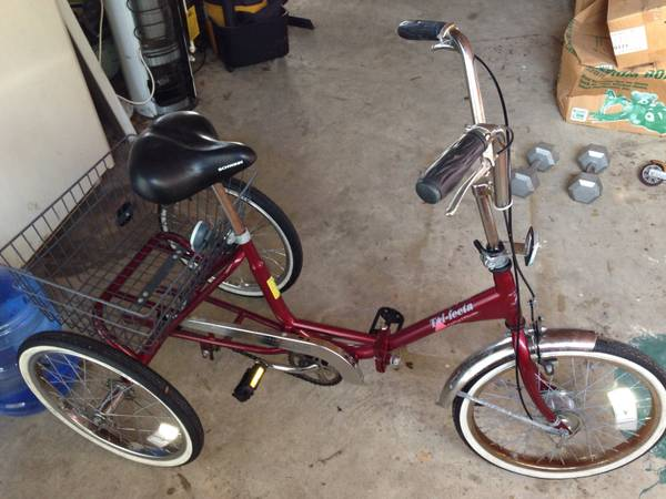 Schwinn Collapsible 3-Wheel Adult Bicycle - $100 (Rockport)