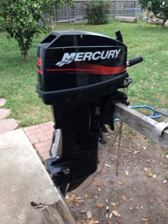 25hp Mercury outboard motor engine -   x0024 1200  Olsen drive