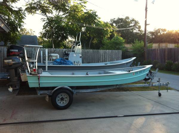 16 Foot Homemade Technical Poling Skiff (or duck boat) - x00243995 (corpus christi)