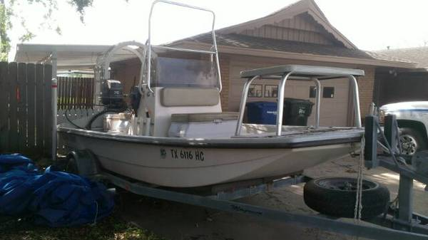 1993 16 foot outboard majek boat with motor trolling