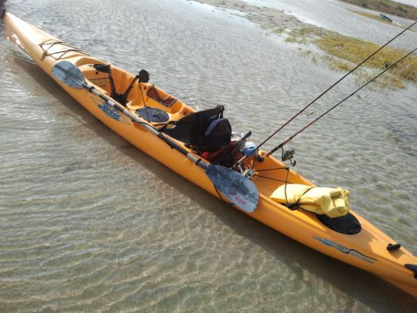 Hobie Adventure Foot Pedal Kayak, Seat, Paddle, Rod Holders, Rudder - $1400 (cc)