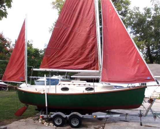 Sailboat Rob Roy 23 Yawl wtrailer motor - $10500 (Clear Lake)