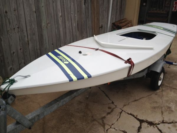 Sunfish with trailer ready to sail - $2000 (ocean dr)