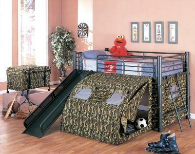 camo slide loft bed - $399 (empire furniture)