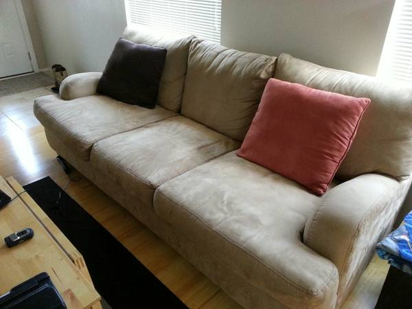Like New Suede Couch and Chair - $500 (the island)