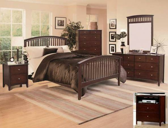4 pc qn bed set - $799 (empire furniture)