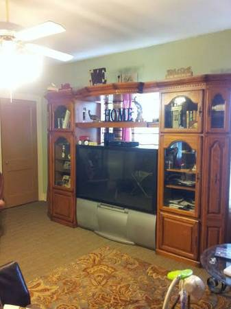 Oak Entertainment Center w 55 TV - $800 (sinton)