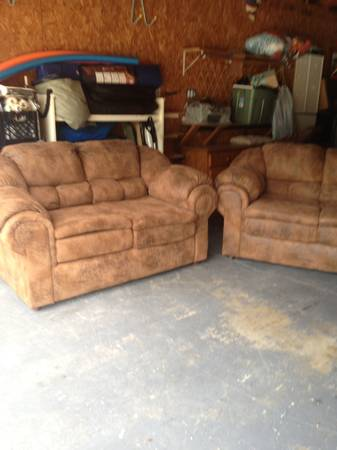 For sale couch loveseat with slip covers - $500 (Ingleside)