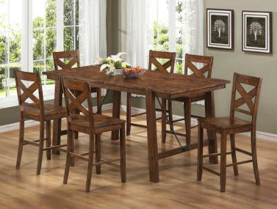 rustic counter height table set - $1199 (empire furniture)