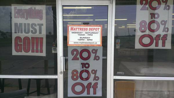 20801 Off Everything Must Go (Mattress depot In Portland)