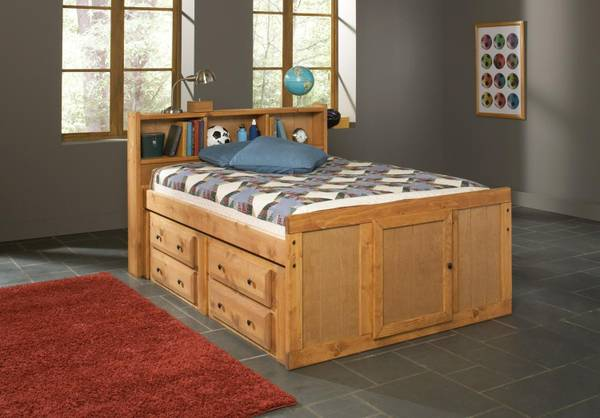 RUSTIC CAPTAINS BED - $749 (EMPIRE FURNITURE)