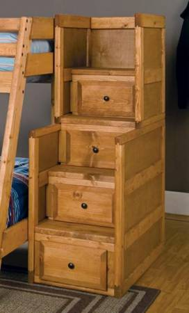 rustic staircase bunk bed wstorage - $999 (empire furniture)