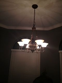 6 Light Hanging Pendant Light Fixture - $50 (Lakes Subdivision)