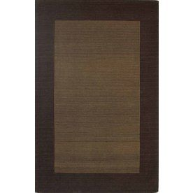 allen roth 5-ft x 8-ft Chocolate Wool Area Rug - $75 (Rockport)