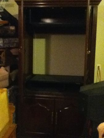 Solid Cherry Wood TV Armoire - $200 (Calallen5 Points)