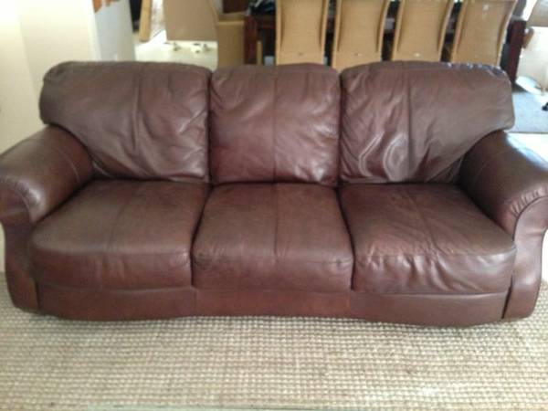 Full size leather sofa set $100 each or $200 for both - $200 (Island)