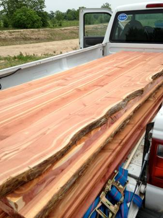 Cedar counter tops  table tops  bar tops  Hallettsville
