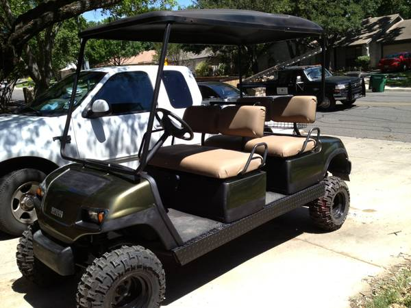 2003 Yamaha Limo gas golf cart - King Ranch colors - Very nice fast - $4800 (SA)