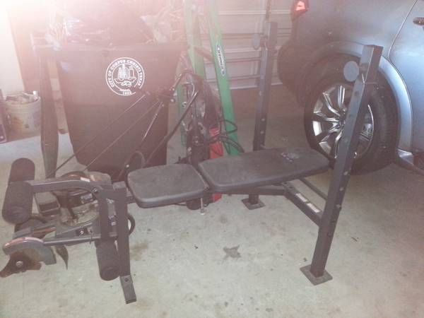 Golds Gym Weight Bench plus weights - x0024150 (Kings Crossing)