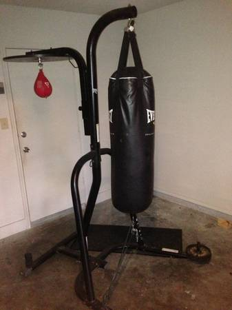 Everlast combo punching bad and speed bag stand  - $200 (Everhart and Yorktown)