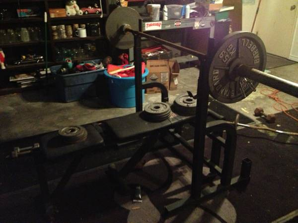 Weight Set with bench and bar - $125 (South Side Corpus Christi near the Walmart on Saratoga )