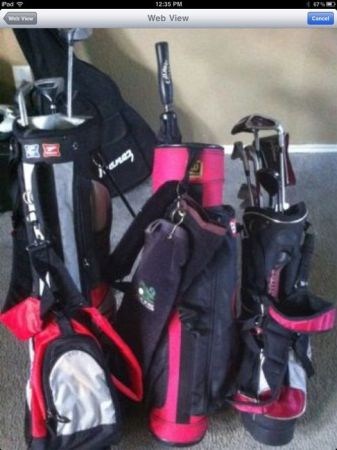 Lot of golf clubs and bags - $125 (SouthsideCorpus Christi)