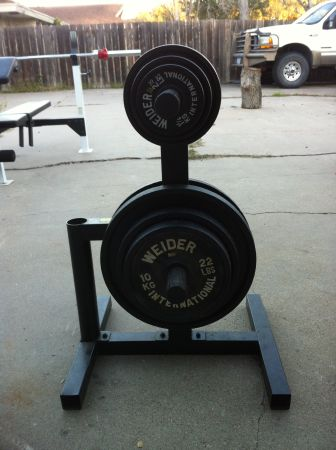 Weider Pro 800 weight bench w weights - $225 (Kingville)