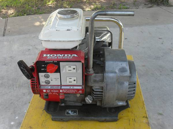 ( Reduced Price by $100.00 )Honda EG650 Generator - $450 (RGV)