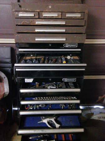 FIFTEEN DRAWER TOOL BOX FULL OF TOOLS MUST SEE. - $650 (Ingleside)
