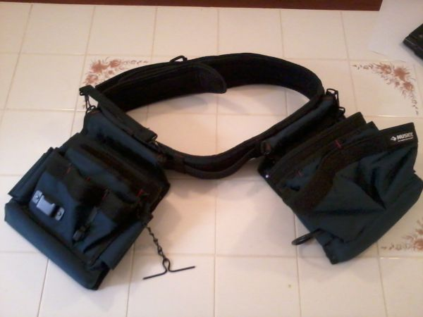 Husky Tool Belt with two pouches - $35 (Corpus Christi)