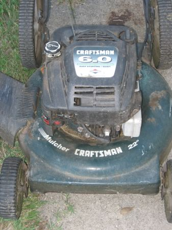 Lawn Mower-Craftsman 6.0 HP - $20 (Central CC)
