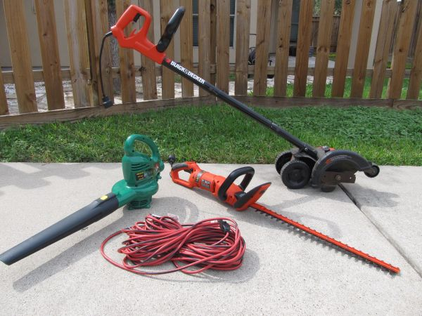 Electric Edger, Hedge Trimmer, and Blower (w 100 extension cord) - $70 (Southside CC)
