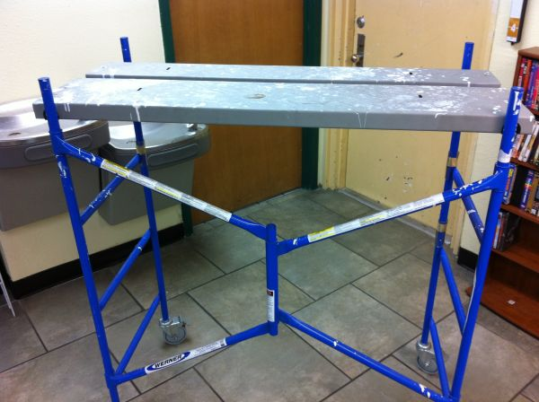 WERNER PORTABLE ROLLABLE SCAFFOLD - $150 (SOUTHSIDE)
