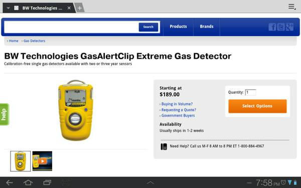 new in box h2s gas monitor extreme - $100 (orange grove)