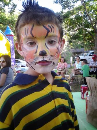flat fee face painting. full faces no hourly charges - $60