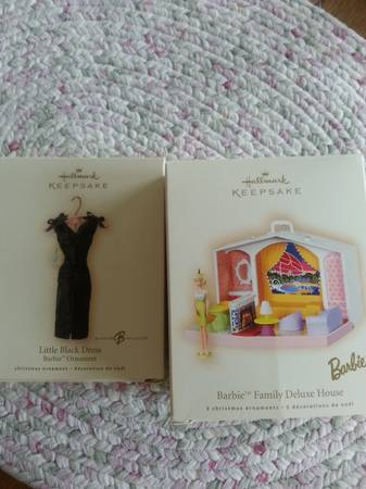 2 brand new hallmark barbie Christmas ornaments - $20 (calallen)