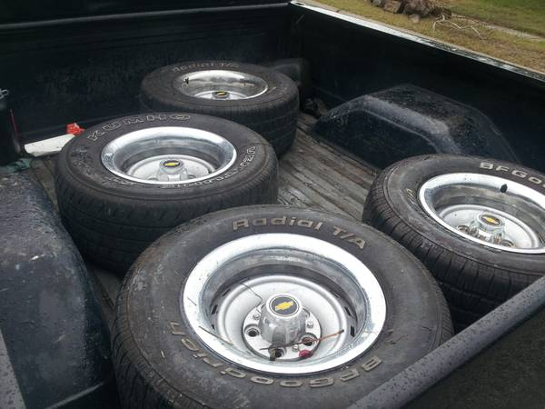c10 chevy truck rally wheels 15x8 275 60 15 BFG - $350 (corpus)