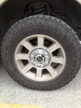 4 - Tires and Rims off of an ford F350 truck - mud terrains - $1200 (New Braunfels)