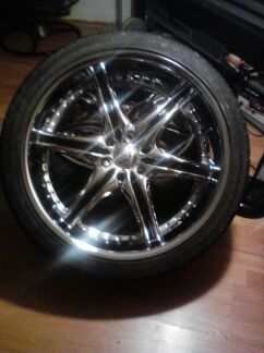 22 inch tires and rims,,6 lug of trail blazer. - $300 (corpus christi)