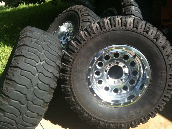 Ford 8 lug rims and tires - $1100 (Airline)