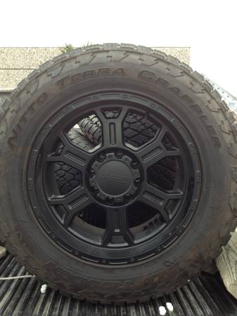 20 Vtec Raptor wheels w 35 Nitto tires Dodge  Chevy 8 lug - $1500 (Portland)