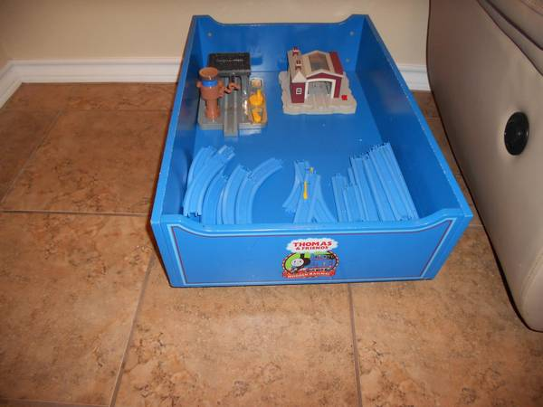 For Sale Thomas Train wooden toy box and accesories - $50 (southside corpus)
