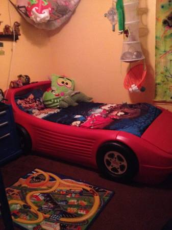 Little Tikes Twin size Race Car Bed - $300