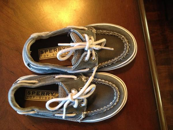 Blue TODDLER canvas SPERRY Topsider sz - x002410 (Corpus Christi )